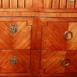 18th Century Italian Commode Drawer Close up