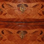 19th Century Bombe Commode Drawer Close Up