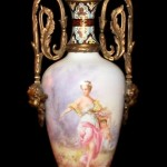 19th Century Sevres Lamp Close Up of Image