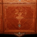 French Commode Close Up Floral Motif