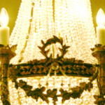 French Empire Chandelier Close Up of Pearls