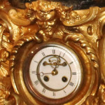 French Doré Clock Close Up of Clock Face