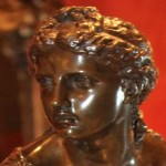 French Bronze Nymph Close Up of Face