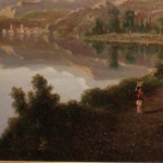 Oil on Canvas Close Up of Lake