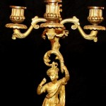 Pair of Candelabrum Close Up of Candle Holders