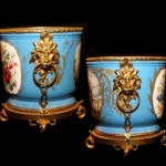 Sevres Porcelain Close Up of Bronze Dore Mounts
