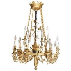 Antique Bronze Doré Chandelier